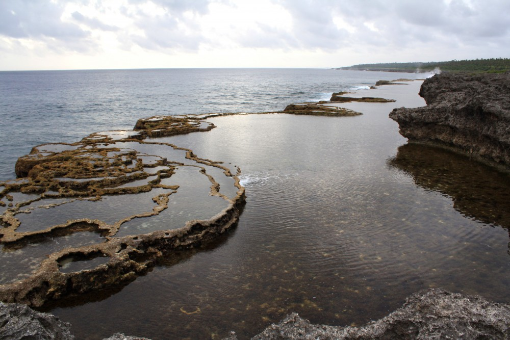 Coral pools at Mapu a Vaea in Tonga